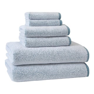 Assisi Bath Towel, Aqua For Sale