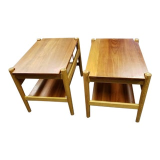 Mid 20th Century Hans Wegner for Andreas Tuck Side Tables - a Pair For Sale