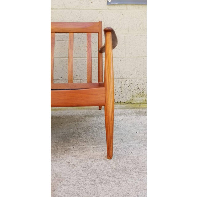 Brown Teak Danish Modern Sofa by Grete Jalk For Sale - Image 8 of 12