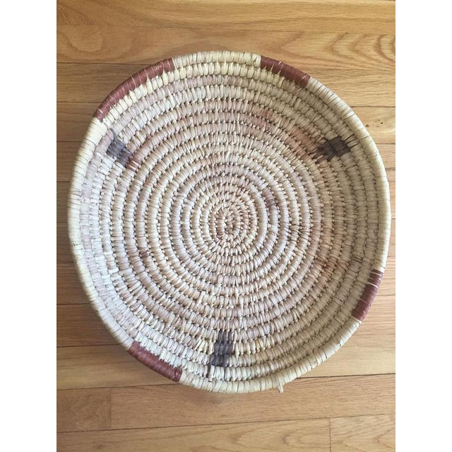 Boho Chic Vintage Native American Tohono Woven Basket For Sale - Image 3 of 11
