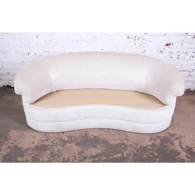Mid-Century Kidney-Shaped Sofa For Sale In South Bend - Image 6 of 9