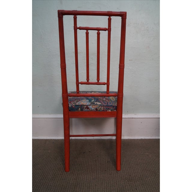 Drexel Heritage Vintage Faux Bamboo Painted Dining Chairs - 6 - Image 6 of 10