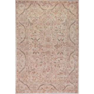 "Mansour Exceptional Handwoven Agra Rug - 6'3"" X 9' For Sale"