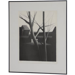 """Robert Kipniss (New York, B.1931) """"Looking"""" Pencil Signed Lithograph C.1975 For Sale"""