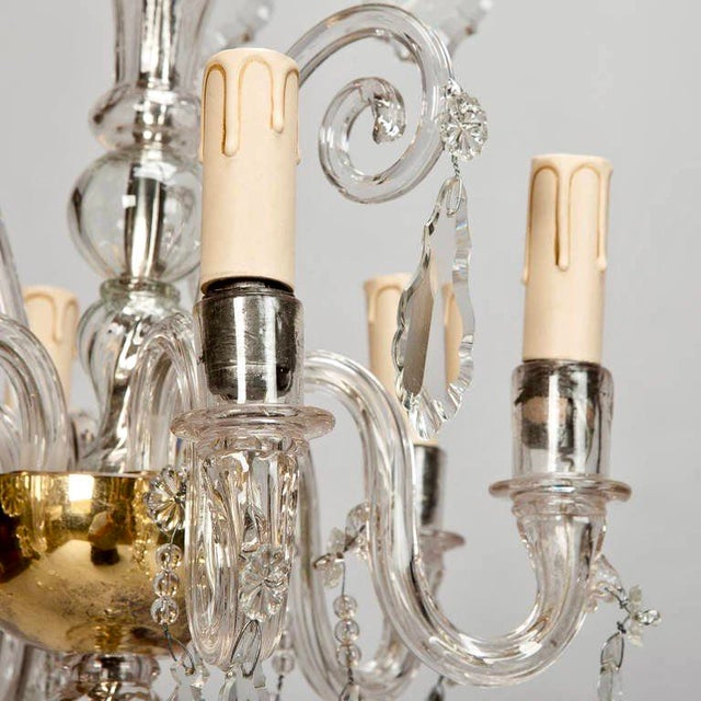 French Tiered All Crystal Six Light Chandelier c.1920 - Image 7 of 9
