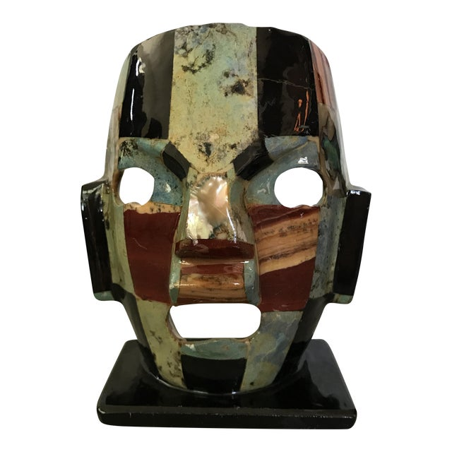 Mother of Pearl Gemstone Mosaic Mask For Sale