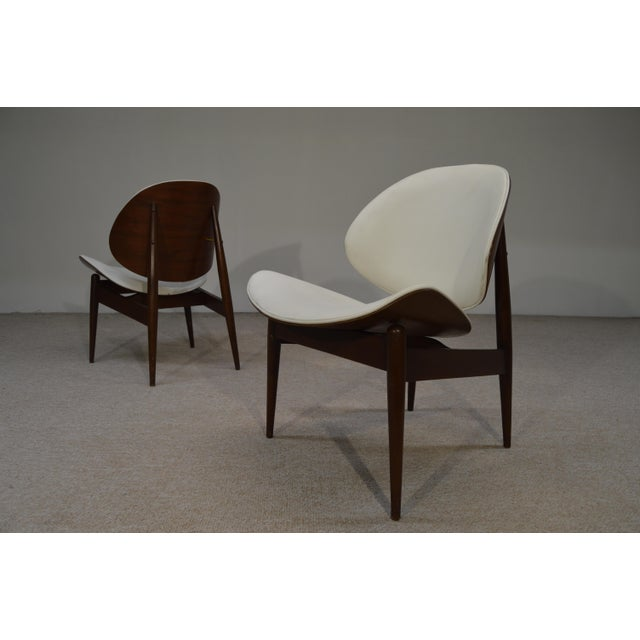 Kodawood Bent Walnut & Leather Lounge Chairs - A Pair - Image 2 of 3