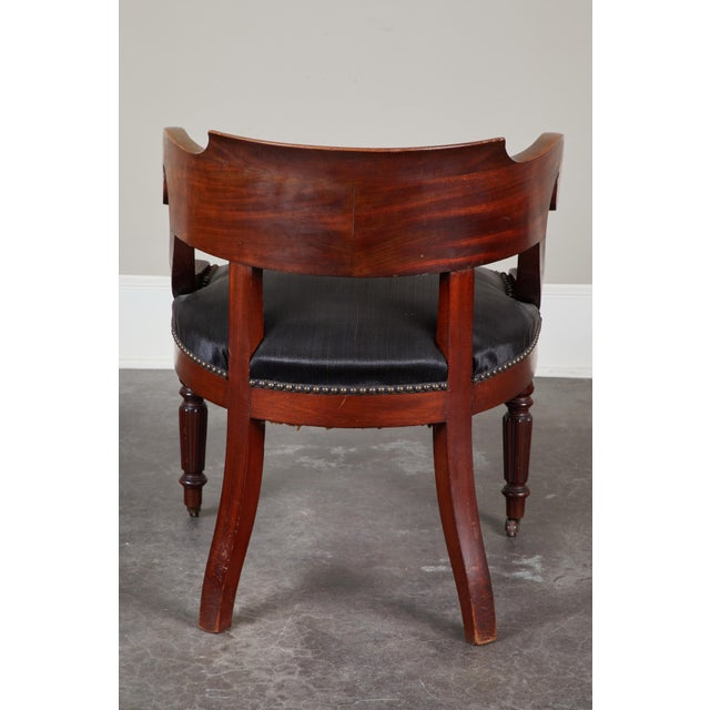Pair of 19th C. Swedish Mahogany Armchairs For Sale - Image 4 of 10