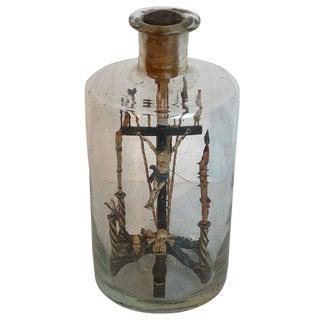 Folk Art Crucifixion Scene in a Bottle For Sale