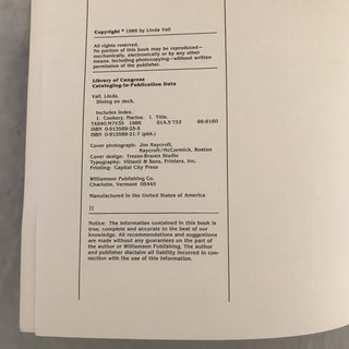 """1986 """"Dining on Deck"""" First Edition Cookbook Preview"""