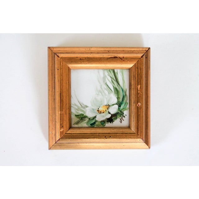 Framed Miniature Tile Painting For Sale In Milwaukee - Image 6 of 6