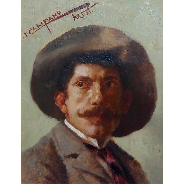 Americana John Califano -Artist Self Portrait -California Impressionist -Oil Painting For Sale - Image 3 of 7