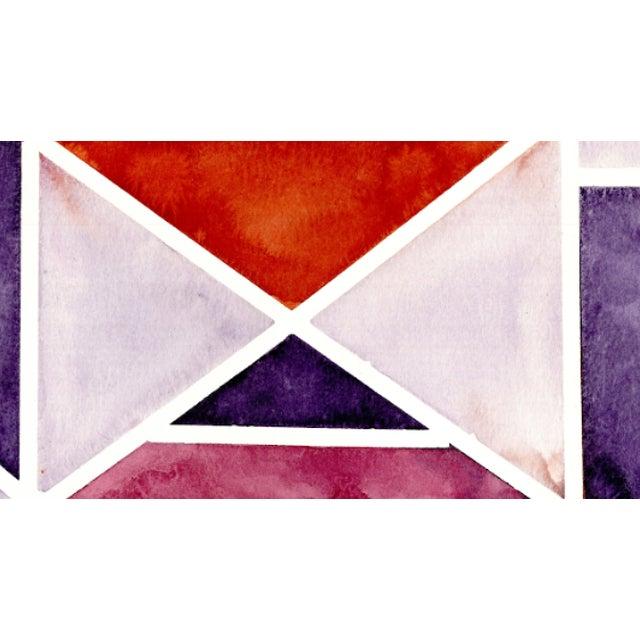 Red - Orange - Purple - Lavender 2019 Original Watercolor Artwork 11 in. x 15 in. 140 lbs acid free watercolor paper....