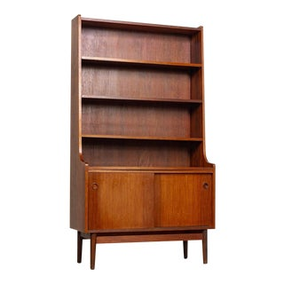 Mid Century Danish Modern Johannes Sorth Tall Wood Bookcase For Sale