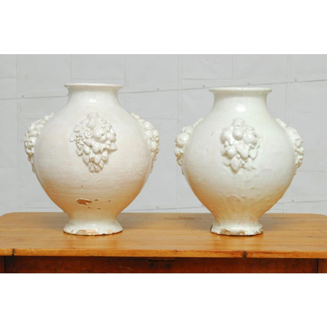 Italian Earthenware Pottery Jars - A Pair - Image 2 of 11