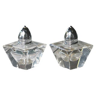 Mid-Century European Glass Salt & Pepper - A Pair