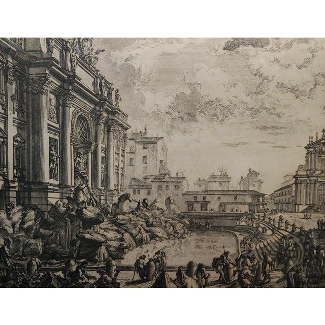 Giovanni Battista Piranesi -Veduta Della Fontana DI Trevi -18th Century Etching For Sale - Image 4 of 9