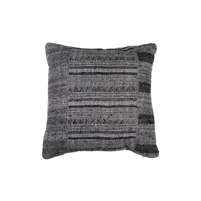 Indian Handwoven Textile Pillow For Sale