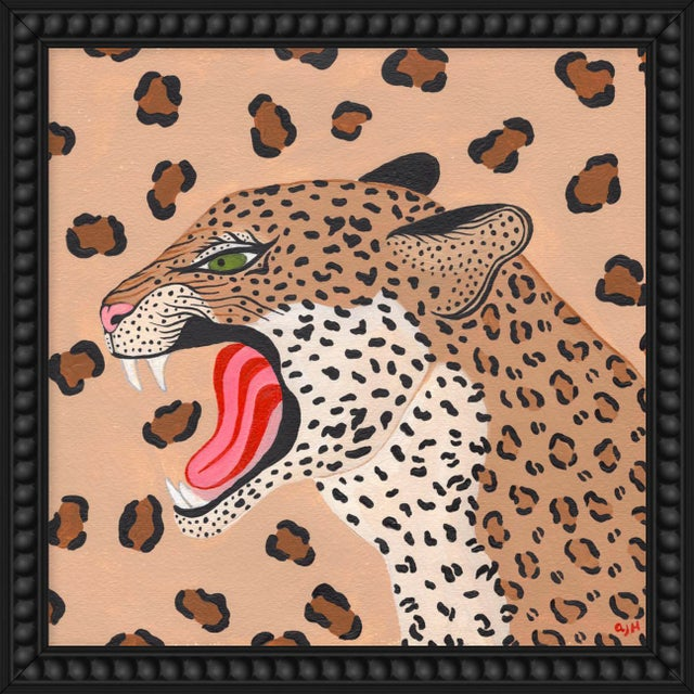"""Contemporary Small """"Cheetah"""" Print by Willa Heart, 18"""" X 18"""" For Sale - Image 3 of 3"""