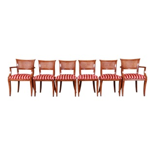 Kindel Furniture Regency Cane Back Dining Chairs, Set of Six For Sale