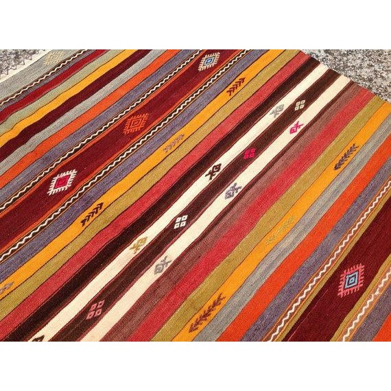 Vintage Turkish Kilim Rug - 5′10″ × 10′7″ - Image 5 of 6
