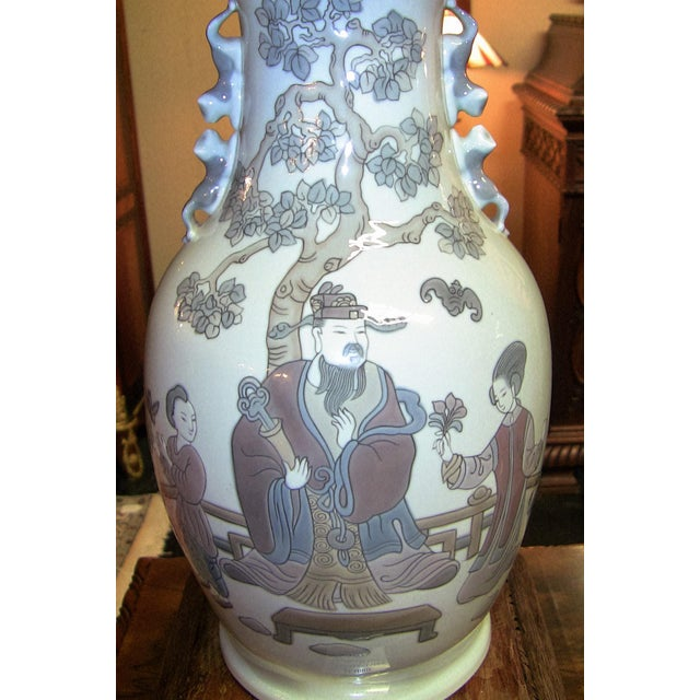 Lladro Retired Mandarin Vases - Very Rare- A Pair For Sale - Image 10 of 12