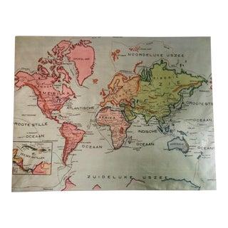 Antique Dutch World Map For Sale