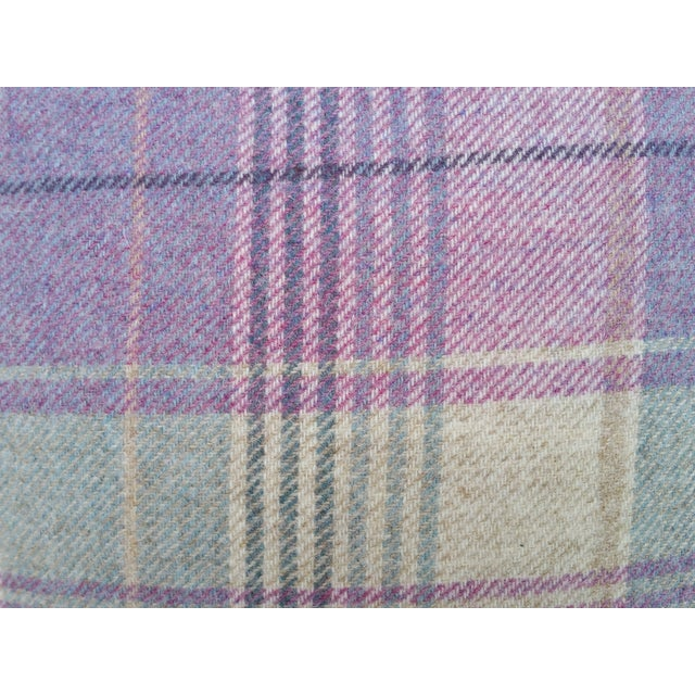 Contemporary Soft Plaid Wool Pillow For Sale - Image 3 of 5