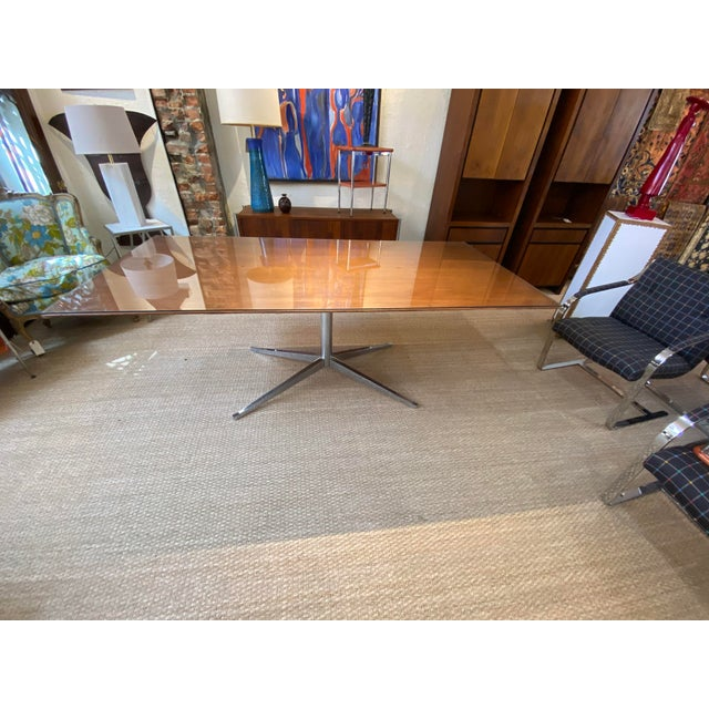 Mid Century Knoll Conference Table/Desk For Sale In New York - Image 6 of 6