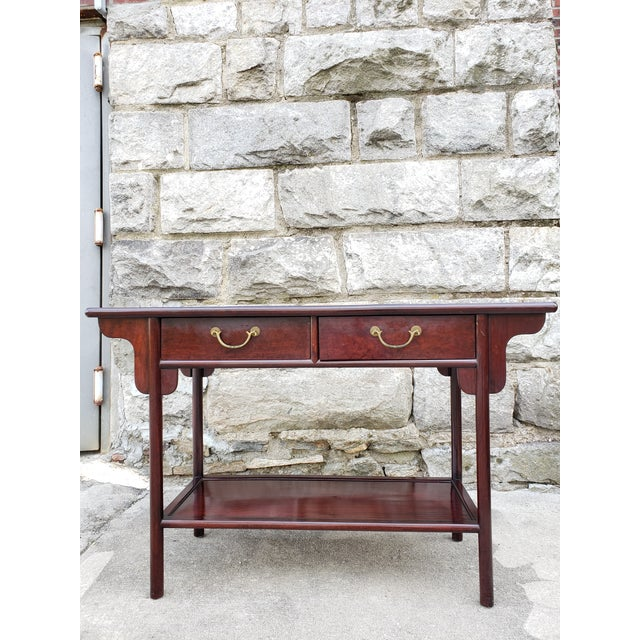 Vintage Asian Rosewood Console Table For Sale - Image 13 of 13