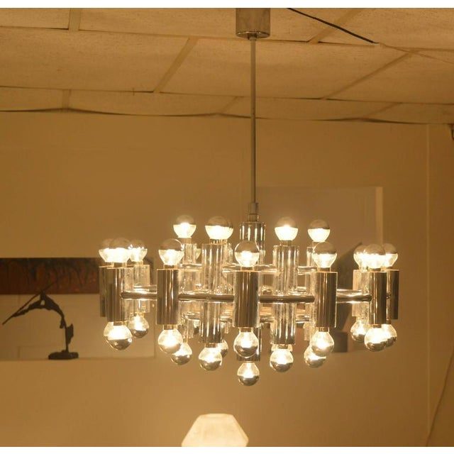 Extra Large Chrome-Plated Chandelier with 37-Light Fixtures For Sale - Image 4 of 9