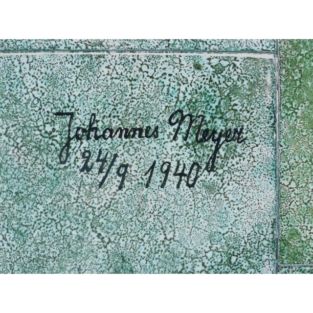 Ceramic 1940 Vintage Johannes Meyer Tile Top Table For Sale - Image 7 of 11