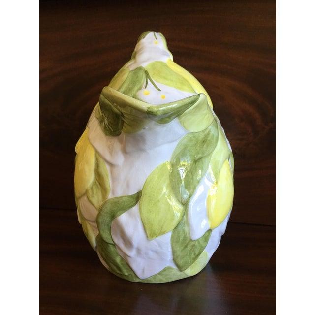 Italian Italian San Marco Lemon Shaped and Lemon Embellished Pitcher For Sale - Image 3 of 13