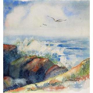 Lake Superior Watercolor Painting For Sale
