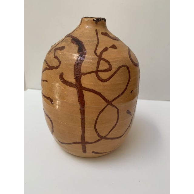 1951 Vintage Mid Century Modern Ceramic Weed Pot For Sale In Chicago - Image 6 of 6