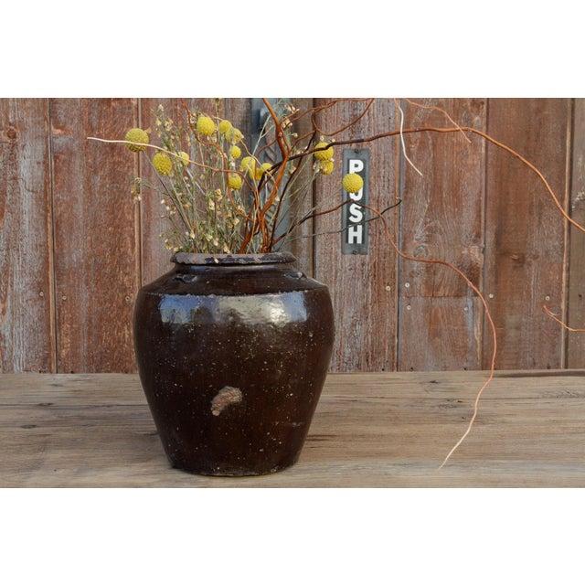 Antique Ebony Mandalay Martaban Jar For Sale - Image 4 of 6