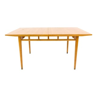 Vintage Mid Century Milo Baughman for Drexel New Todays Living Blonde Wood Dining Table For Sale