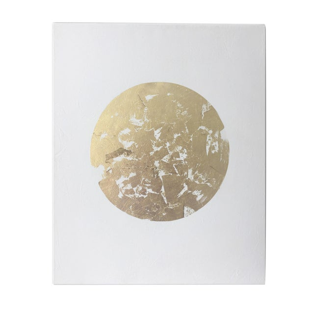 Gilded Circle No. 1 Acrylic on Canvas - Image 1 of 4