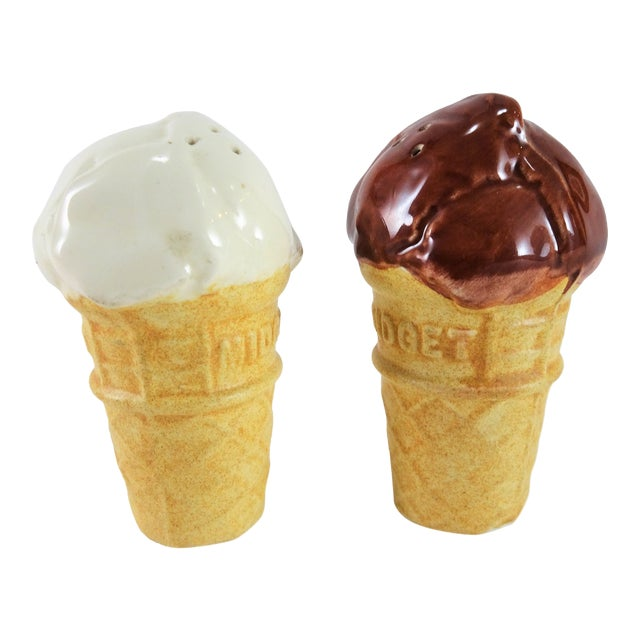 Americana Ice Cream Salt and Pepper Shakers - a Pair For Sale