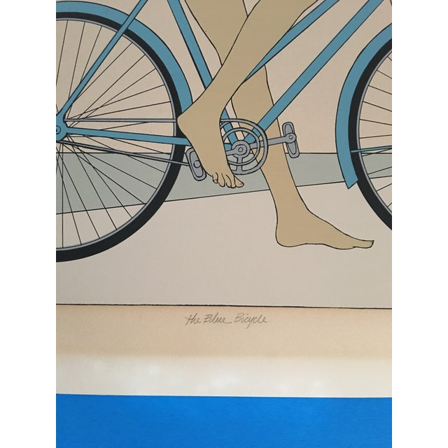 "Will Barnet ""Blue Bicycle"" Signed Serigraph - Image 6 of 11"