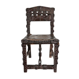 Antique Chokwe Chief Chair For Sale