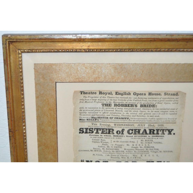"Theatre Royal, English Opera House, Strand ""Sisters of Charity"" Flyer c.1920s For Sale In San Francisco - Image 6 of 8"