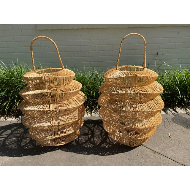 Huge Lanterns Can be hung or placed on the floor or turned into light fixtures! Purchased in Atlanta, GA