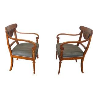 Fine 19th Century Biedermeier Arm Chairs - a Pair For Sale