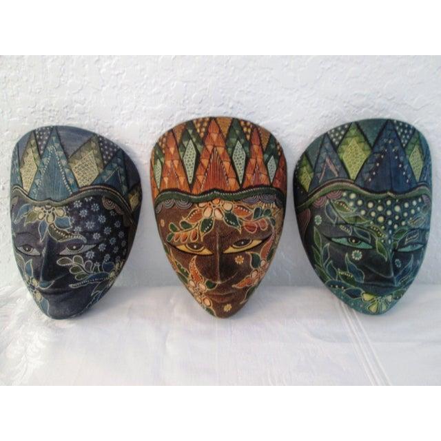 Ornate Decorative Hanging Masks - S/3 - Image 2 of 9