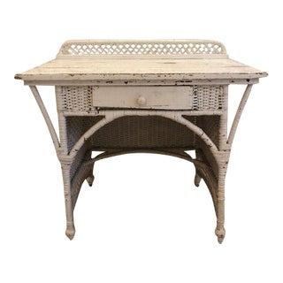 Antique Victorian Wicker Desk For Sale