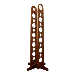 Teak Studio Craft Minimalist Wine Rack For Sale