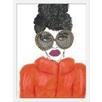 "Medium ""Orange Coat"" Print by Kendra Dandy, 18"" X 24"""