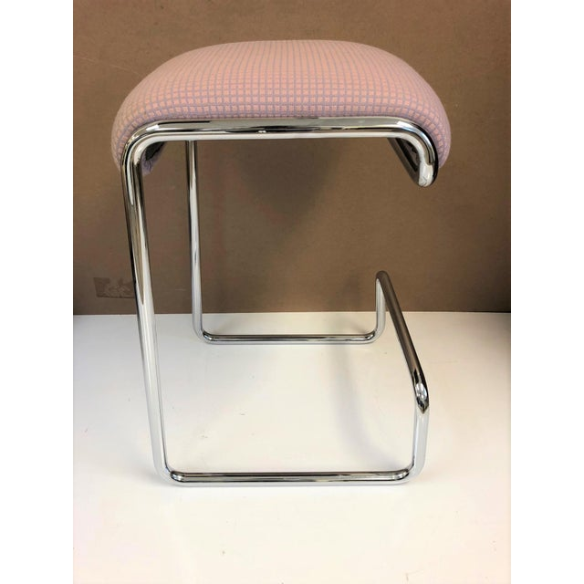1970s Three Bar Stools by Design Institute of America For Sale - Image 5 of 6