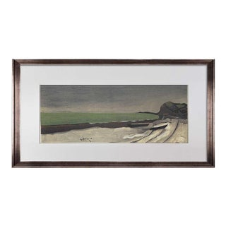 """Georges Braque Limited Edition Lithograph Sign """"..Seaside"""" W/Frame For Sale"""